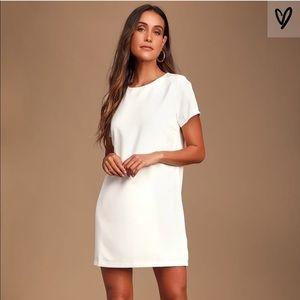 Lulus white shift dress